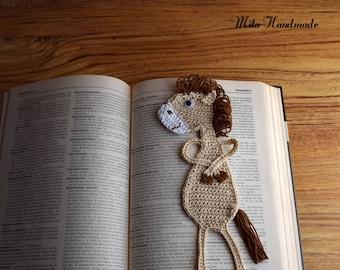 Albornoz horse crochet, Marcapagina crochet, Marcapagina, Albornoz Horse, handmade, crochet, bookmark, crochet bookmark