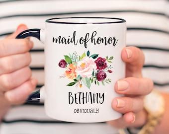 Maid Of Honor Proposal Mug, Funny Maid Of Honor Mug, Maid Of Honor Gift, Personalised Mug For Maid Of Honor Obviously Mug - SWM01_116