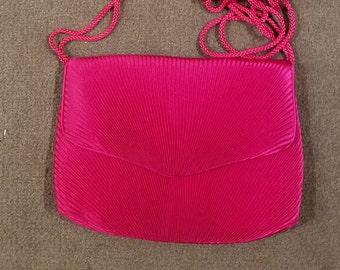 Vintage Carolyne Barton hot pink evening bag