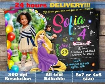 Rapunzel Invitation, Princess Rapunzel Invite, Rapunzel Birthday Invitation, Rapunzel Birthday Party, Tangled invitation, Tangled party