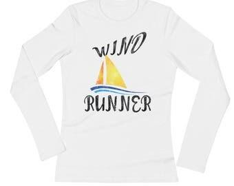 Wind Runner Color Spartees Ladies' Long Sleeve T-Shirt