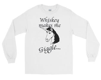 Whiskey Makes Me Giggle distressed unisex Spartees Long Sleeve T-Shirt
