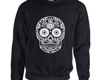 Skull Head Adult Unisex Designed Sweatshirt Printed Crew Neck Sweater for Women and Men