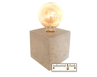 Concrete lamp - Edison lamp - Cube lamp - Edison Lamp - Industrial Lamp
