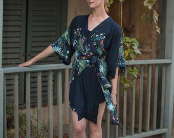 Kimono Dress,Kimono Top, Fashion Kimomo, Kimono Fabric, Kimono Pattern, Blue Kimono, Japanese Kimono Robe