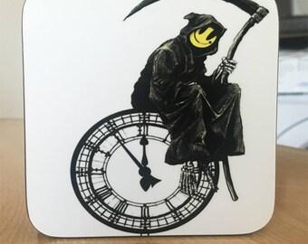 Banksy Coaster #10 - Banksy Gift - Banksy Coaster - Custom Coaster -Gift for Her - Gift For Him - Fridge Magnets - Banksy Magnet - Souvenir