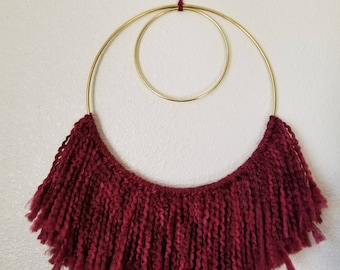 Round Wall Hanging - Berry Red