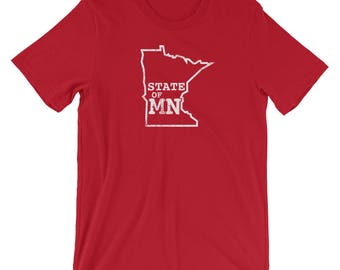 State of Minnesota - Home MN State Gift Tees Short-Sleeve Men's/Unisex T-Shirt