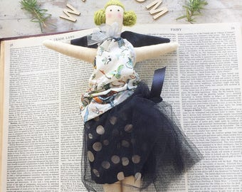 Handmade Cloth Fairy Doll, Heirloom Doll about 32 cm tall by NoosaForestFairies
