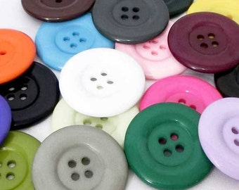 20pcs Large 38mm Big Resin Plastic Overcoat Button for Clothing Shirt Coat Jackets 38mm Button X 20