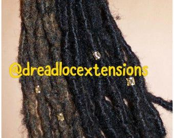 Loc extensions etsy 10 human hair loc extensions 10pcs pmusecretfo Choice Image