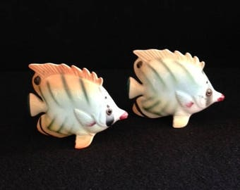 Colorful Rainbow Fish Salt and Pepper Shakers - Japan