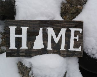 New Hampshire Rustic Home Sign