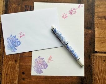 Floral wings Letter/Writing/Stationary Set