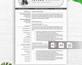 resume template instant download cv template resume template word resume design free - Resume Template Mac