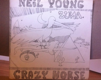 Neil Young Crazy Horse Zuma Vinyl Record Original Pressing Reprise 1975 Record is in EX condition