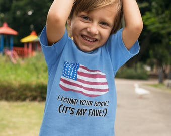"""I Found Your Rock! It's My Fave!"""" Youth Short Sleeve T-Shirt"""