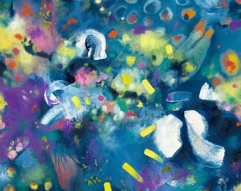 Festivale, a limited edition print of 250 from an original Artist Nikki J oil painting