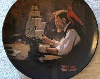 The Ship Builder by Norman Rockwell - Collectors Plate