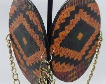 Kente Print Earrings