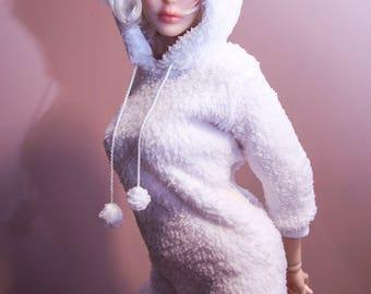 Winter cozy set/ BJD dress / BJD clothes / SD girl / 1/3 girl