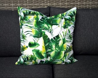 Tropical Banana Leaf print cushion cover