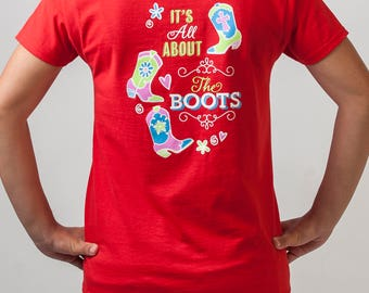 Country Girl T-Shirt: It's All About the Boots