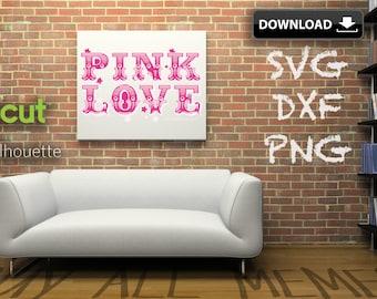 Two, 2 Inspired Pink Logos Print & Cut | Fashion Logo Dxf Svg Png | Victoria Secret | Make A T-shirt | Wall Art | Card | Pillow | Mug | Etc