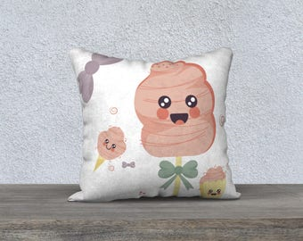 """CANDY CUTE B"" pillow decorative pillow cover for children, decoration, deco room child, baby"