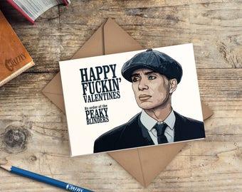 Peaky Blinders Valentines Card | Peaky Blinders Card | Happy Fuckin' Valentines By Order of the Peaky Blinders