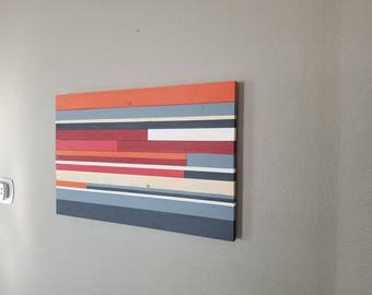 Large wall art, Abstract Art, Wood Wall Art, Wood Sculpture, Home Decor, Reclaimed Art, Office art, Corporate Art, Wall Art, Colorful