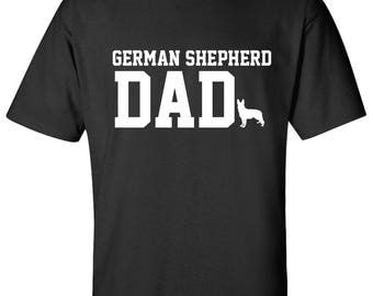 german shepherd dad logo Graphic T-shirt