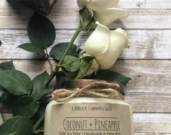 Coconut + Pineapple Candle | Pineapple Candle | Coconut Candle | Hawaiian Candle | Coconut Candles | Summer Candle | Urban Wanderlust Shop
