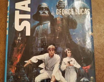 Vintage 1976 Star Wars George Lucas Hardcover Book Club Edition with dust jacket.