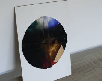"sculpture papier et photographie ""CrossRoll"""