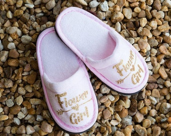Personalised Childrens Slippers, Flower Girl Slippers, Bridesmaid Slippers, Personalized Slippers, Customized Slippers , Slippers with names
