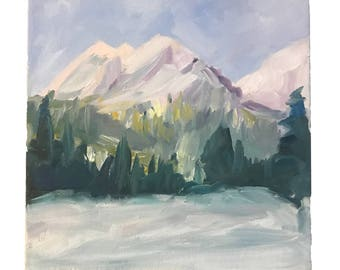Original Mountains - Impressionist