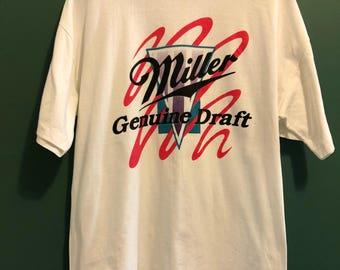 Vintage miller genuine draft T shirt / Retro beer shirt