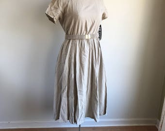 Vintage Linen Plus Size Orvis Dress Size 16p Deadstock