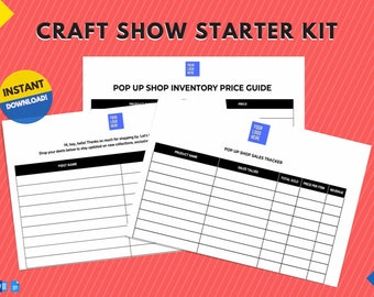 Instant Download | Starter Kit for Pop Up Shops, Craft Shows, Farmer's Markets, Trade Shows, & other Vendor Events