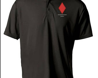 5th Infantry Division Embroidered Moisture Wick Polo Shirt -3238