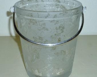 Fostoria Elegant Glass #2378 OAK LEAF Crystal ICE Bucket pail tub