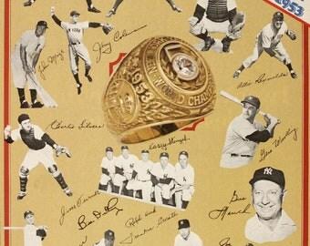 1978 NEW YORK YANKEES - Vintage Baseball Poster