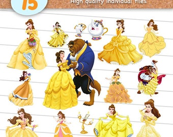 The Beauty And Beast Clipart Files Princess Belle PNG With Transparent Background