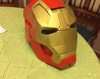 Iron Man Helmet cardboard