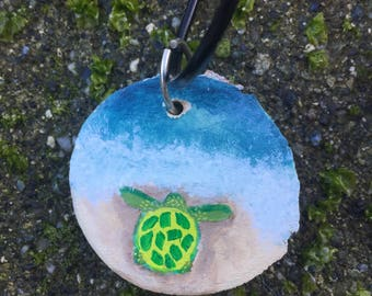 Green Sea Turtle Necklace