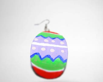 Handmade Easter Egg Painted Earrings Holiday Series Collectibles