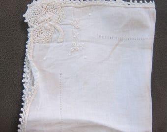Vintage 1940's Bridal Handkerchief