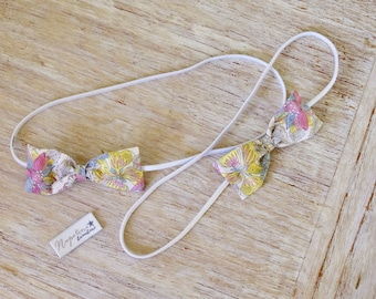 Baby / Toddler / Child Bow Headband - in Liberty Angelica Garla print