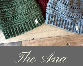The Ana Beanie Crochet Pattern